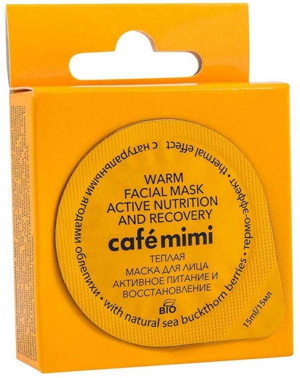 """Meleg arcmaszk """"Aktív tápláló és regeneráló"""" természetes homoktövis bogyókkal - Cafe Mimi Warm Face Mask"""