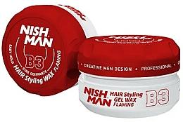 Parfüm, Parfüméria, kozmetikum Stilizáló hajwax-gél - Nishman Hair Styling Gel Wax B3 Flaming