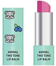 Parfüm, Parfüméria, kozmetikum Ajakápoló balzsam, kétszínű - Animal Two-Tone Lip Balm