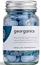 """Parfüm, Parfüméria, kozmetikum Szájöblítő tabletta """"Angol menta"""" - Georganics Natural Mouthwash Tablets English Peppermint"""