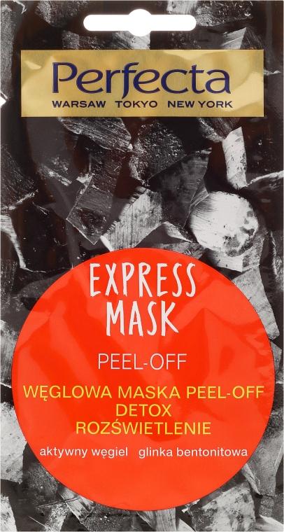 Lehúzható arcmaszk aktív szénnel - Perfecta Express Mask Peel-Off Detox
