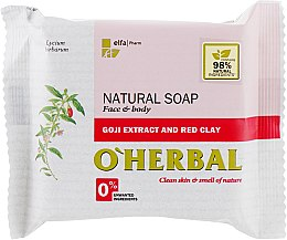 Parfüm, Parfüméria, kozmetikum Természetes szappan goji kivonattal és vörös agyaggal - O'Herbal Natural Soap