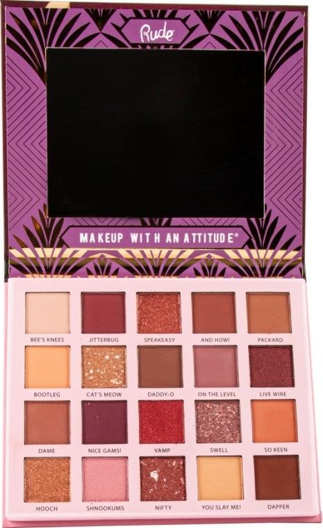 Szemhéjfesték paletta, 20 szín - Rude The Roaring 20's Eyeshadow Palette — fotó N2