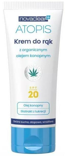 Kézkrém kender olajjal - Novaclear Atopis Hand Cream SPF20