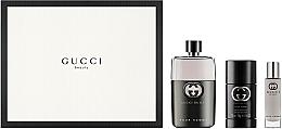 Parfüm, Parfüméria, kozmetikum Gucci Guilty Pour Homme - Szett (edt/90ml + deo/75ml + edt/15ml)