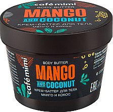 """Parfüm, Parfüméria, kozmetikum Testvaj """"Mangó és kókusz"""" - Cafe Mimi Body Butter Mango And Coconut"""
