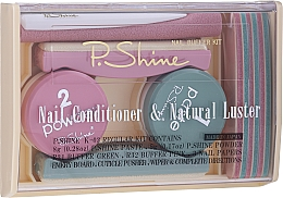 Parfüm, Parfüméria, kozmetikum Szett - P.Shine (n/paste/8g + n/puder/5g + n/pol/5pcs + n/file/1pcs + n/acc/1pcs)