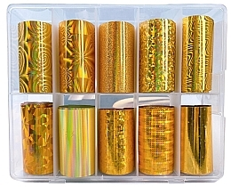 Parfüm, Parfüméria, kozmetikum Körömdísz fólia - Deni Carte Gold Holo
