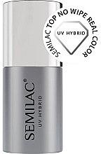 Parfüm, Parfüméria, kozmetikum Alaplakk ragacsos réteg nélkül - Semilac Top No Wipe Real Color