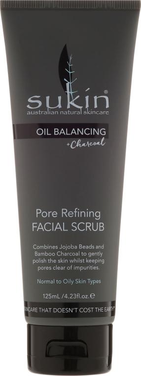 Arctisztító - Sukin Oil Balancing Plus Charcoal Pore Refining Facial Scrub
