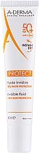 Parfüm, Parfüméria, kozmetikum Napvédő fluid SPF 50 + - A-Derma Protect Invisible Fluid Very High Protection