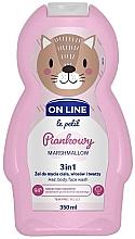 """Parfüm, Parfüméria, kozmetikum Arc- és hajtisztítő szer """"Mályvacukor"""" - On Line Le Petit Marshmallow 3 In 1 Hair Body Face Wash"""