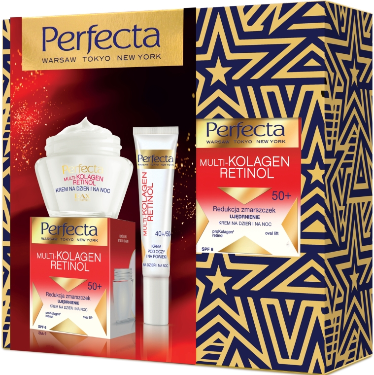 Szett - Perfecta Multi-Collagen Retinol 50+ (cr/50ml+eye/cr/15ml)