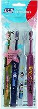 Parfüm, Parfüméria, kozmetikum Gyerek fogkefe, zöld+kék+világoskék+rózsaszín - TePe Kids Extra Soft