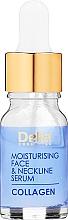 Parfüm, Parfüméria, kozmetikum Ránctalanító szérum arcra és nyakra, intenzív hidratáló terápia - Delia Collagen Intensive Anti-Wrinkle and Moisturising Treatment Serum
