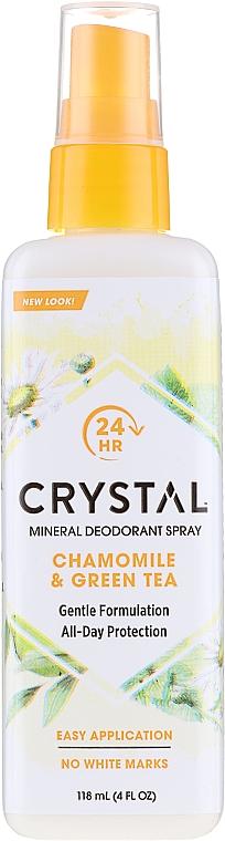 Kamilla és zöld tea illatú izzadásgátló spray - Crystal Essence Deodorant Spray