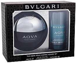 Parfüm, Parfüméria, kozmetikum Bvlgari Aqva Pour Homme - Szett (edt/100ml + deo/75ml)