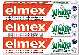 Parfüm, Parfüméria, kozmetikum Szett - Elmex Junior Toothpaste Set (3xtoothpaste/75ml)