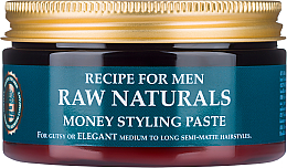 Parfüm, Parfüméria, kozmetikum Hajpaszta - Recipe For Men RAW Naturals Money Styling Paste
