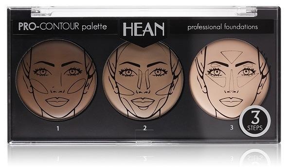 Arcmodellező paletta 3 színárnyalat - Hean Pro-Countour Palette