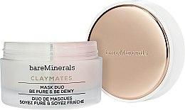 Parfüm, Parfüméria, kozmetikum Tisztító és hidratáló kettős arcmaszk - Bare Escentuals Bare Minerals Claymates Be Pure & Be Dewy Mask Duo