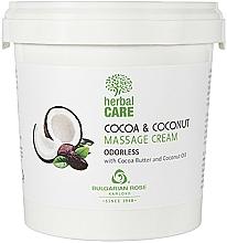 Parfüm, Parfüméria, kozmetikum Masszázskrém kakaóval és kókusszal, illatmentes - Bulgarian Rose Herbal Care Cocoa & Coconut Massage Cream Odorless