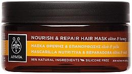 """Parfüm, Parfüméria, kozmetikum Regeneráló és tápláló maszk """"Olíva és méz"""" - Apivita Nourish & Repair Hair Mask With Olive & Honey"""