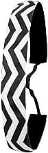 Parfüm, Parfüméria, kozmetikum Csúszásgátló hajpánt, fekete-fehér - Ivybands Chevron Black White Hair Band