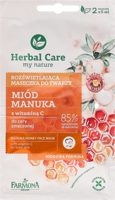 """""""Méz és C-vitamin"""" arcmaszk - Farmona Herbal Care Manuka Honey Face Mask"""