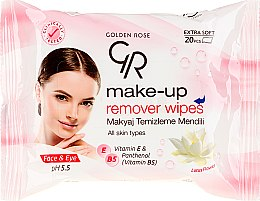 Parfüm, Parfüméria, kozmetikum Sminklemosó törlőkendő - Golden Rose Extra Soft Make-up Remover Wipes