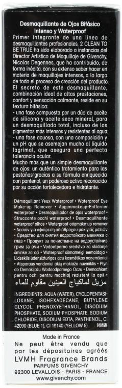 Kétfázisú sminklemosó 2 az 1-ben - Givenchy 2 Clean to Be True — fotó N2