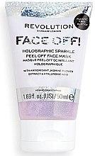 Parfüm, Parfüméria, kozmetikum Peeling-maszk - Revolution Skincare Face Off! Holographic Sparkle Peel Off Face Mask