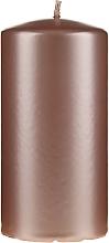 Parfüm, Parfüméria, kozmetikum Díszgyertya, gyöngyház színű, 14 cm, rózsaszín-arany - Artman Opal Candle