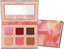 Parfüm, Parfüméria, kozmetikum Szemhéjfesték paletta - Nabla Cutie Collection Palette Coral