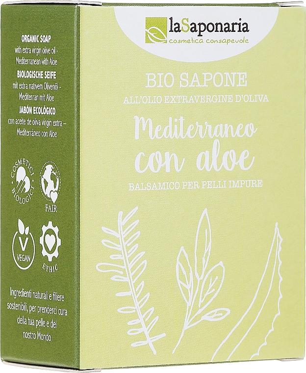 Szappan aloe és olíva olaj kivonattal - La Saponaria Aloe Soap