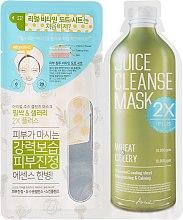 """Parfüm, Parfüméria, kozmetikum Kétfázisú arcmaszk """"Búza és zeller"""" - Ariul Juice Cleanse 2X Plus Mask Pack Wheat & Celery"""