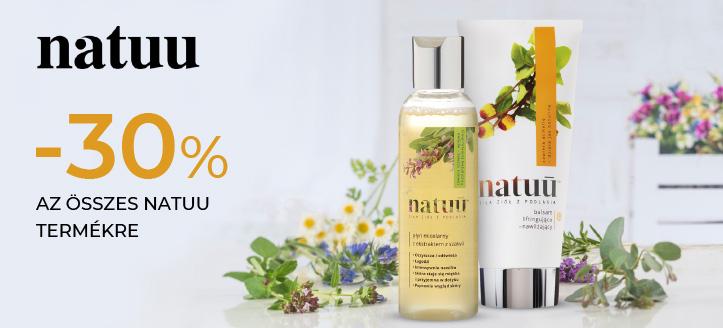 -30% kedvezmény az összes Natuu termékre. A feltüntetett ár a kedvezményt is tartalmazza