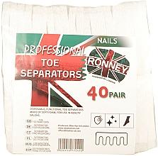 Parfüm, Parfüméria, kozmetikum Lábujjelválasztó, 80 db - Ronney Professional Toe Separators