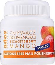 """Parfüm, Parfüméria, kozmetikum Körömlakk eltávolító folyadék """"Mangó"""" szivaccsal - Ados Acetone Free Nail Polish Remover"""
