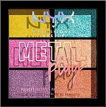 Parfüm, Parfüméria, kozmetikum Pigment paletta szemhéj-, arc- és test sminkjéhez - NYX Professional Makeup Metal Play Pressed Pigment Palette