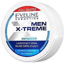 Parfüm, Parfüméria, kozmetikum Nyugtató ultra hidratáló krém arcra, kézre és testre - Eveline Cosmetics Men X-Treme Sensitive Cream