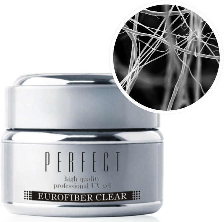 Átlátszó körömépítő zselé - Silcare Perfect High Quality UV Gel Eurofiber Clear
