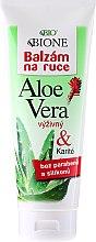 Parfüm, Parfüméria, kozmetikum Hidratáló kézápoló balzsam - Bione Cosmetics Aloe Vera Nourishing Hand Ointment With Collagen