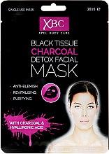 Parfüm, Parfüméria, kozmetikum Arctisztító maszk szénnel - Xpel Marketing Ltd Body Care Black Tissue Charcoal Detox Facial Face Mask