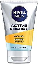 "Parfüm, Parfüméria, kozmetikum Mosakodó gél ""Energia"" - Nivea Men Active Energy Caffeine Face Wash Gel"