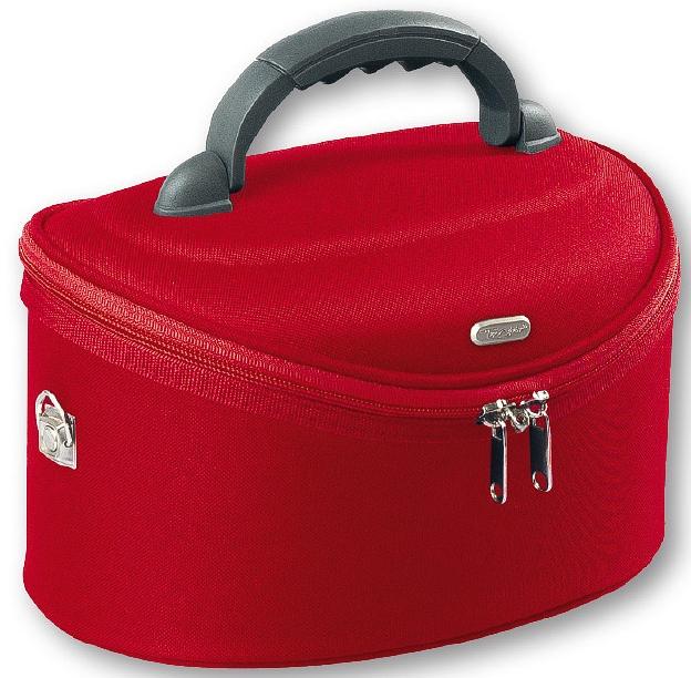 Nagy, ovális alakú neszesszer, 95085, piros - Top Choice Oval Red