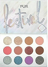 Parfüm, Parfüméria, kozmetikum Szemhéjfesték paletta - Pur Festival 2.0 12-Piece Pressed Pigments Palette