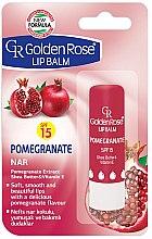 Parfüm, Parfüméria, kozmetikum Ajakápoló balzsam - Golden Rose Lip Balm Pomegranate SPF15