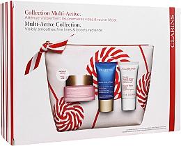 Parfüm, Parfüméria, kozmetikum Szett - Clarins Multi-Active Christmas Set (day/cream/50ml + night/cream/15ml+balm/15ml+bag)