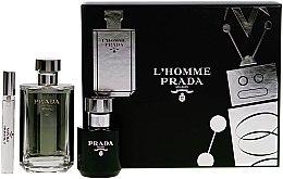 Parfüm, Parfüméria, kozmetikum Prada L'Homme Prada - Szett (edt/100ml + s/g/100ml + edt/mini/10ml)